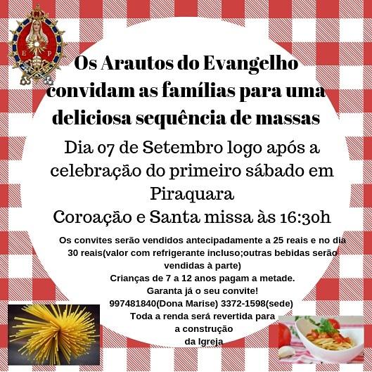 1º Sábado do Mês, venha participar!